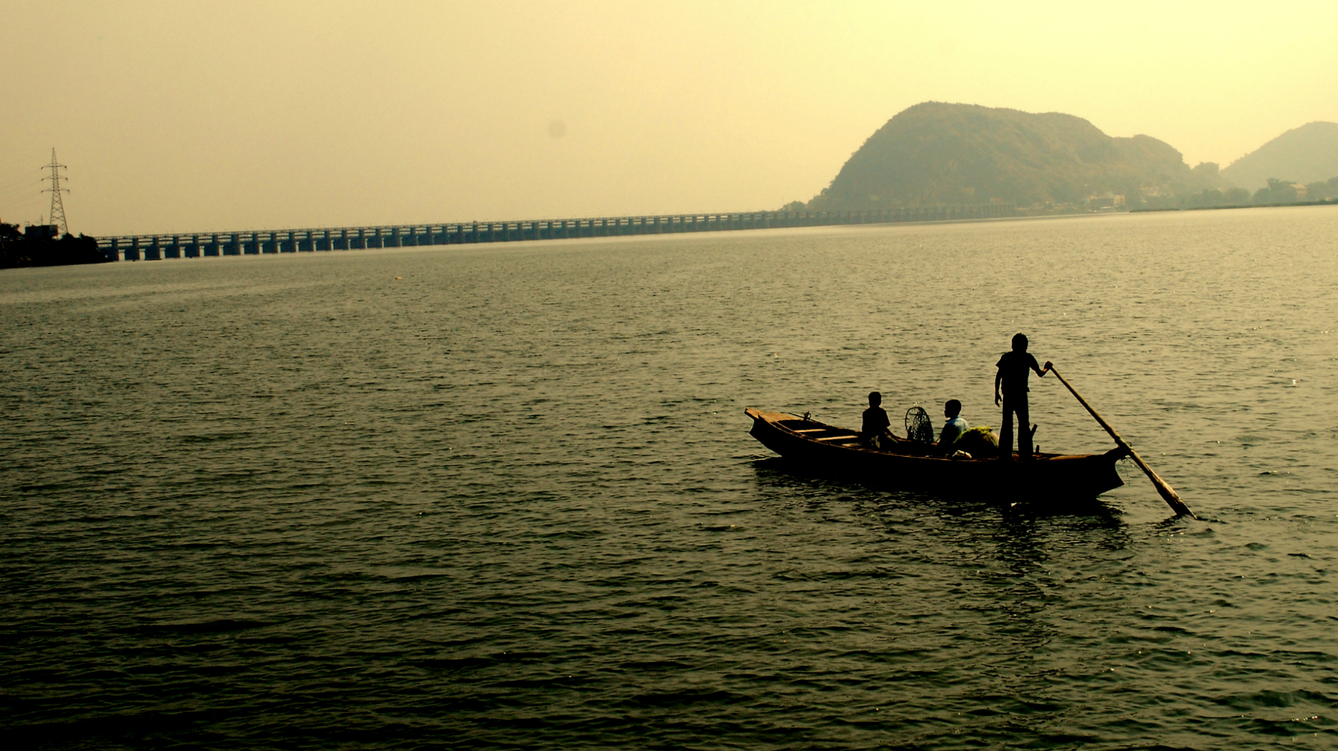 Krishna river near Vijayawada. Photo - Wikimedia Commons