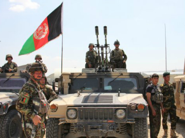 File image of Afghan National Army soldiers. Wikimedia Commons