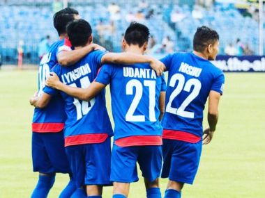 Bengaluru FC edged out Shillong Lajong 3-2 in the Federation Cup. Twitter/ @BengaluruFC