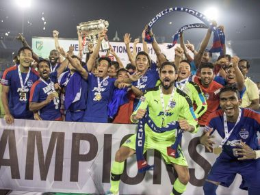 Bengaluru FC won their second Federation Cup title with win over Mohun Bagan. Twitter/@BengaluruFC