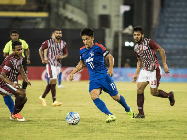 File photo of Bengaluru FC's Sunil Chhetri. Image courtesy: Twitter/ @BengaluruFc