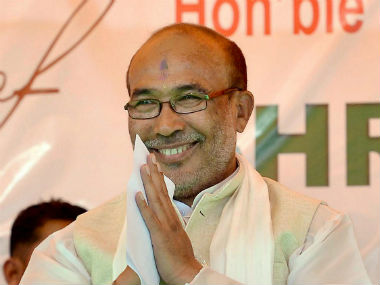 File image of Manipur chief minister, N Biren Singh. PTI