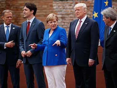 G7 leaders. AP