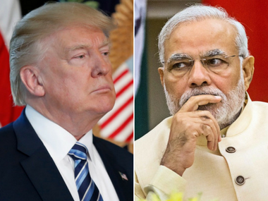 (From left) US President Donald Trump and Indian Prime Minister Narendra Modi. AP and PTI