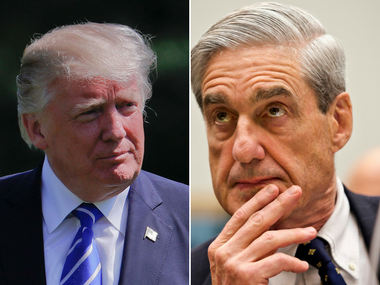 File images of Donald Trump and Robert Mueller. AP