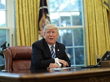 File photo of Donald Trump in Oval Office. Reuters.