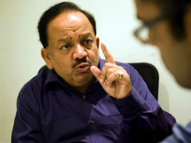 File image of Environment Minister Harsh Vardhan. PTI