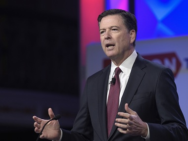 File image of former FBI chief James Comey. AP