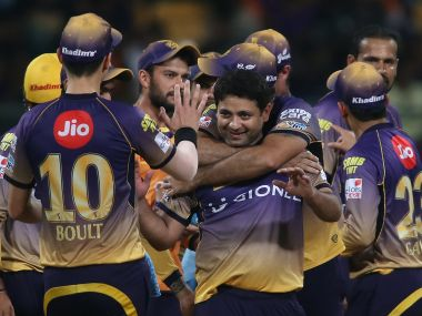 Kolkata Knight Riders beat Sunrisers Hyderabad by D/L method to stay alive in the competition. Image Courtesy: IPL/SportzPics