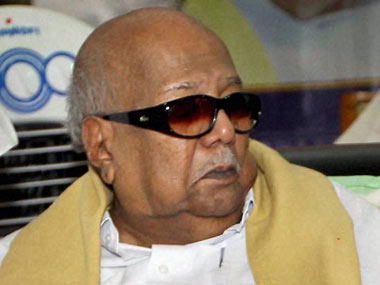 File image of Karunanidhi. PTI