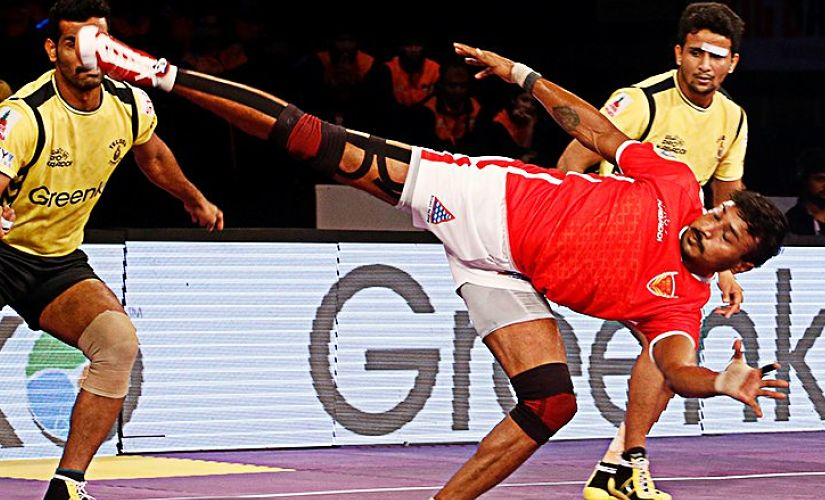 Kashiling Adake emerged as one of the top raiders in Pro Kabaddi League Season 2. Twitter/ @ProKabaddi