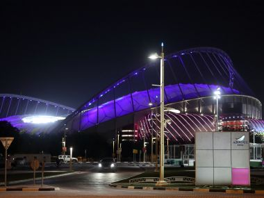The exterior of the Khalifa International Stadium,Qatar.REUTERS