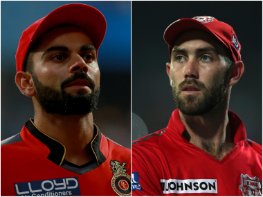 Virat Kohli and Glenn Maxwell, captain of Royal Challengers Bangalore and Kings XI Punjab respectively. Sportzpics