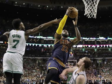 Cleveland Cavaliers forward LeBron James (23) in action against Boston Celtics. AP