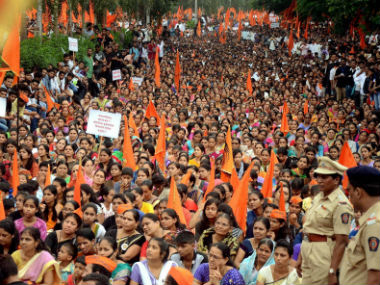 File image of the Maratha protest. PTI