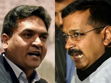 Kapil Mishra has accused Kejriwal of taking bribe of Rs 2 cr. PTI