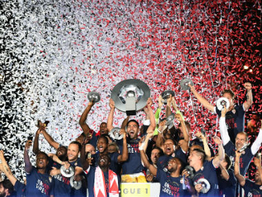 Monaco finished six points ahead of PSG to lift the Ligue 1 title since 2000. AFP