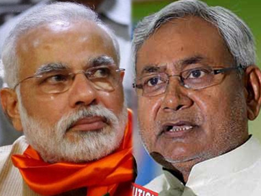 File image of Modi (L) and Nitish Kumar (R). PTI