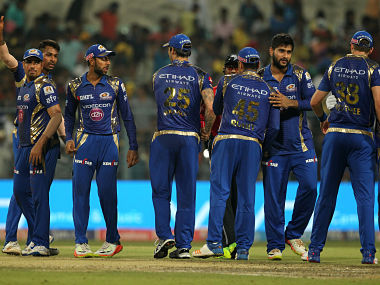 Mumbai Indians celebrates win against Kolkata Knight Riders at the Eden Gardens. SportzPics