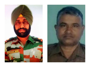 Martyrs Paramjeet Singh (left) and Prem Sagar (right). PTI and News18.