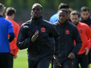 Paul Pogba, Chris Smalling, Eric Bailly and Phil Jones returned to training. AFP