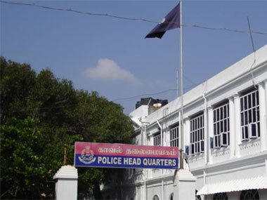 Puducherry Police headquarters. Image courtesy Puducherry Police