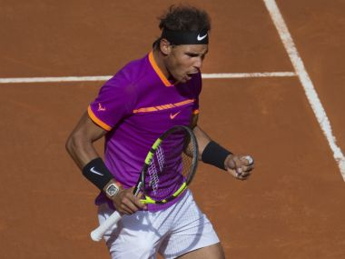 Rafael Nadal of Spain in action at the Madrid Open. AP