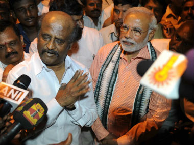 Rajinikanth with Narendra Modi