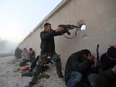 A file image of Syria rebels. Reuters
