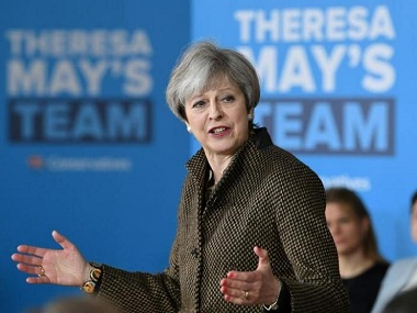 File photo of Theresa May. Reuters.