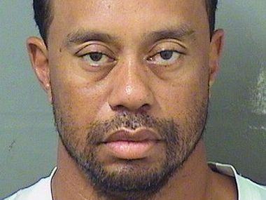 A police photo of Tiger Woods after his arrest. Image courtesy: Palm Beach County Sheriff's office via AP