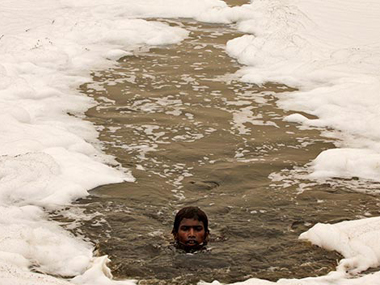 File image of effuents in the Yamuna near New Delhi. Reuters