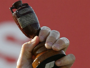 The iconic Ashes urn. AFP