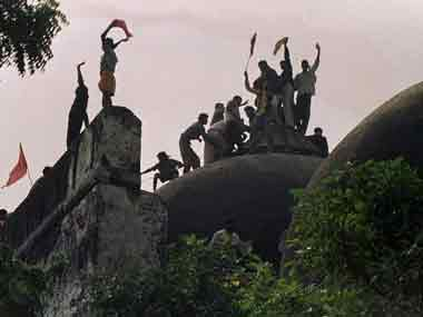 File image of Babri Masjid demolition. AFP