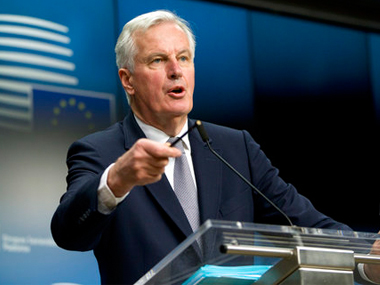 File image of Michel Barnier in Brussels on Monday. AP