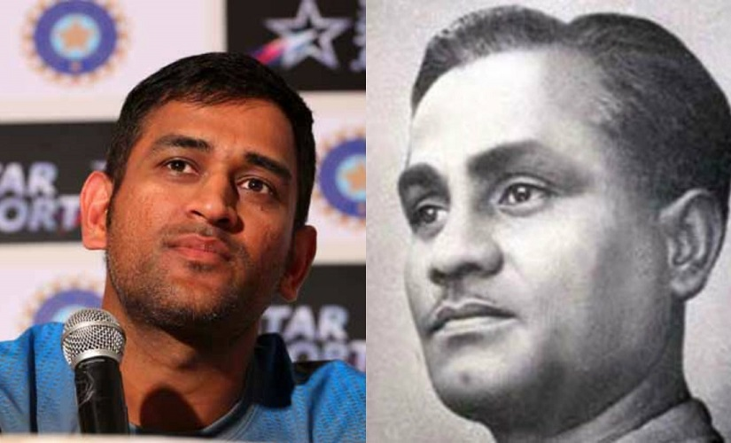 MS Dhoni and Dhyan Chand. Images from Firstpost and News18