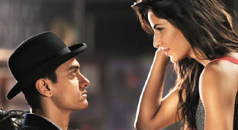 Aamir Khan and Katrina Kaif in a still from Dhoom 3. Twitter