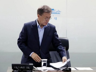 File image of South Korean President Moon Jae-in. Reuters