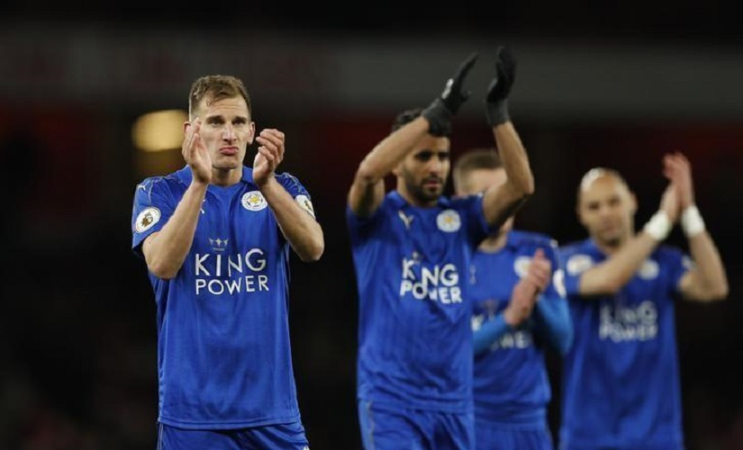 File image of Leicester City's Marc Albrighton. Reuters
