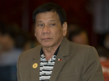 File image of Filippino President Rodrigo Duterte. AP