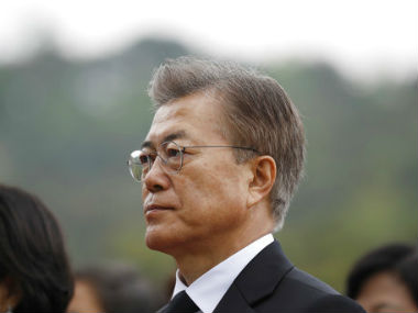 File image South Korean president Moon Jae-In. AP