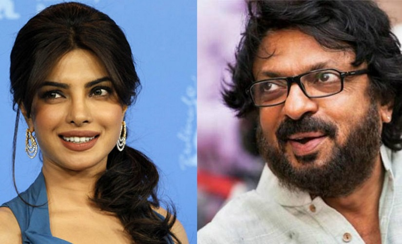 Priyanka Chopra and Sanjay Leela Bhansali. Images from IBN Live and Firstpost