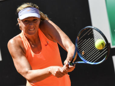 Maria Sharapova in action against Christina McHale during the Rome Masters. AFP