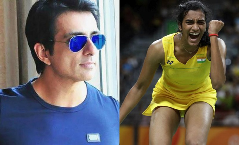 Sonu Sood and PV Sindhu. Images from Firstpost
