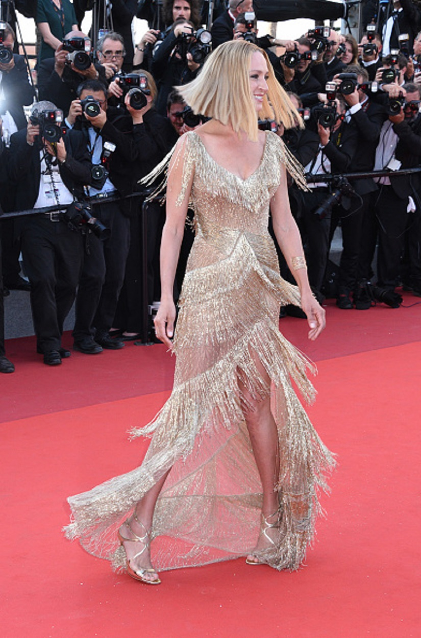 CANNES, FRANCE - MAY 28: Uma Thurman attends the Closing Ceremony during the 70th annual Cannes Film Festival at Palais des Festivals on May 28, 2017 in Cannes, France. (Photo by Foc Kan/FilmMagic)