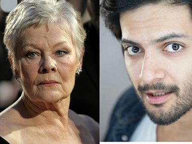 Judi Dench and Ali Fazal. Images from Wikimedia Commons and Facebook
