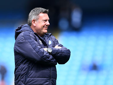 Leicester City's English manager Craig Shakespeare looks on before the English Premier League football match between Manchester City and Leicester City at the Etihad Stadium in Manchester, north west England, on May 13, 2017. / AFP PHOTO / Paul ELLIS / RESTRICTED TO EDITORIAL USE. No use with unauthorized audio, video, data, fixture lists, club/league logos or 'live' services. Online in-match use limited to 75 images, no video emulation. No use in betting, games or single club/league/player publications. /