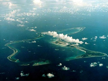 File image of Diego Garcia, the largest island in the Chagos archipelago. Reuters
