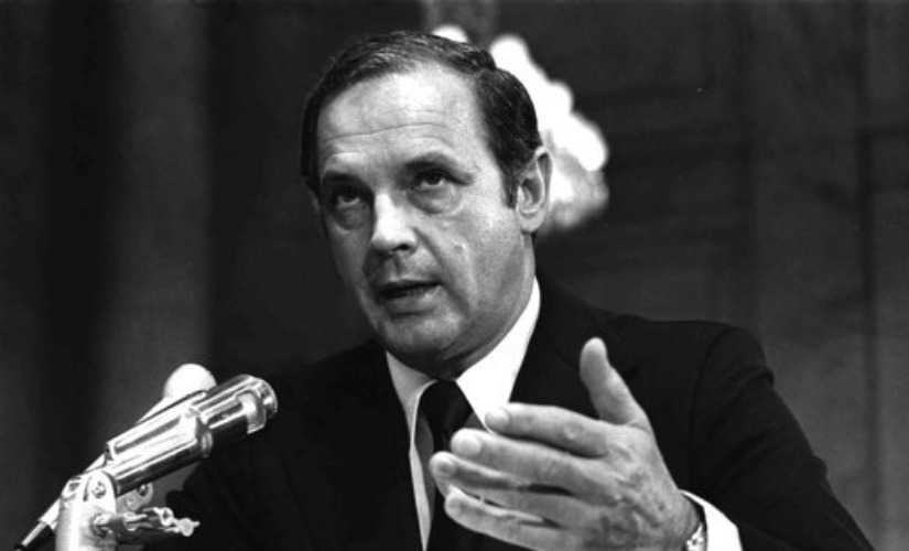 Alexander Porter Butterfield, testifies before the Senate Watergate Committee. AP