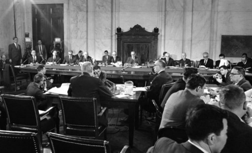File image of the Senate Foreign Relations Committee hearing on Vietnam in Washington. AP